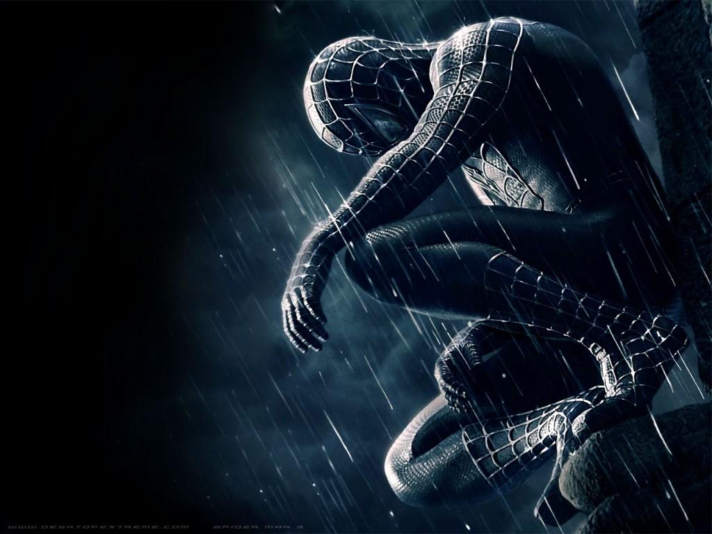 Free Download Wallpaper Spiderman Sentado Con Su Traje Gris