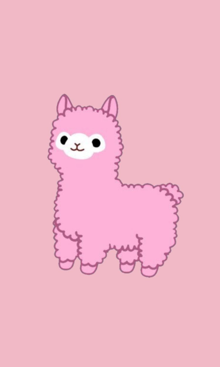 Cute llama wallpaper iPhone Phone wallpaper pink Pretty 750x1250