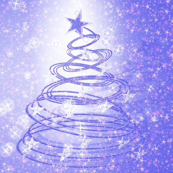 Blue Christmas Tree Wallpaper: Extra Large Christmas Wallpaper