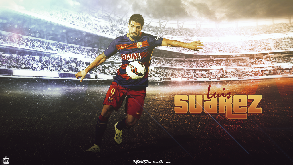 Luis Suarez wallpaper 201516 by MH10 Designs by FCBMher on 1024x576