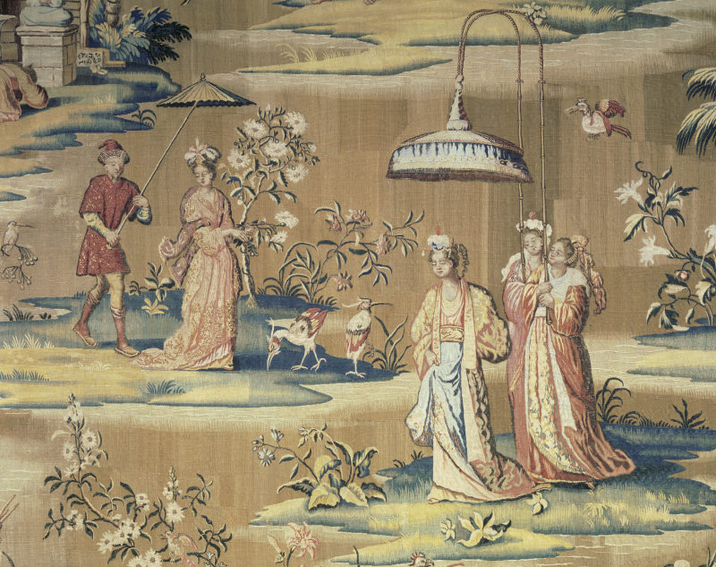 Free Download Hand Painted Chinoiserie Wallpaper From The 18th