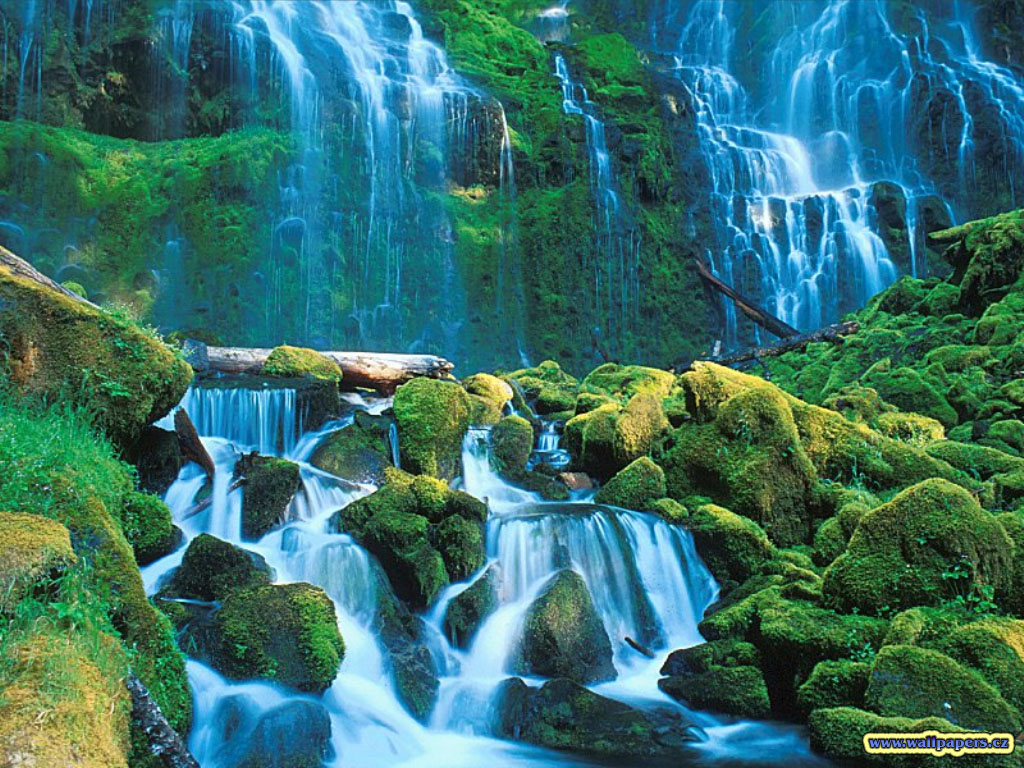 3d waterfall background 3d waterfall wallpapers 3d water fall 1024x768