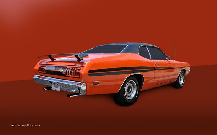 1971 dodge demon 1971 Dodge Dart Demon   Orange Hardtop Wallpaper 736x460