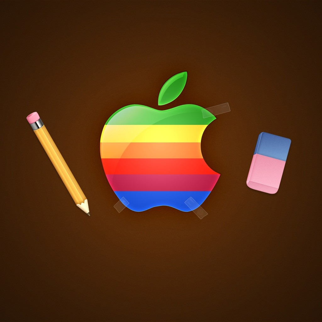 ipad wallpaper with apple logo   Wallpapers 1024x1024