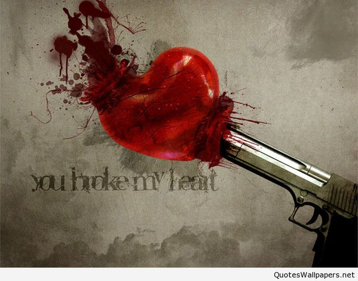 Broken Heart Wallpaper HD with saying wwwquotespicsnet 736x579