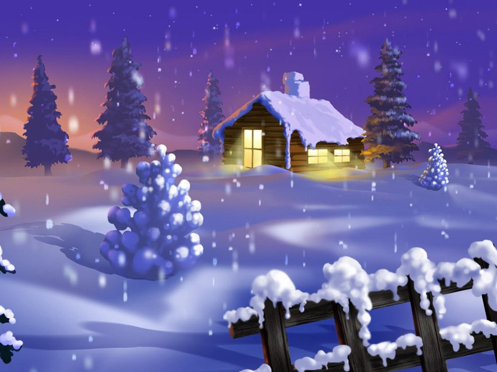 Papel de parede de Natal grtis para iPad e iPad 2 1024x768