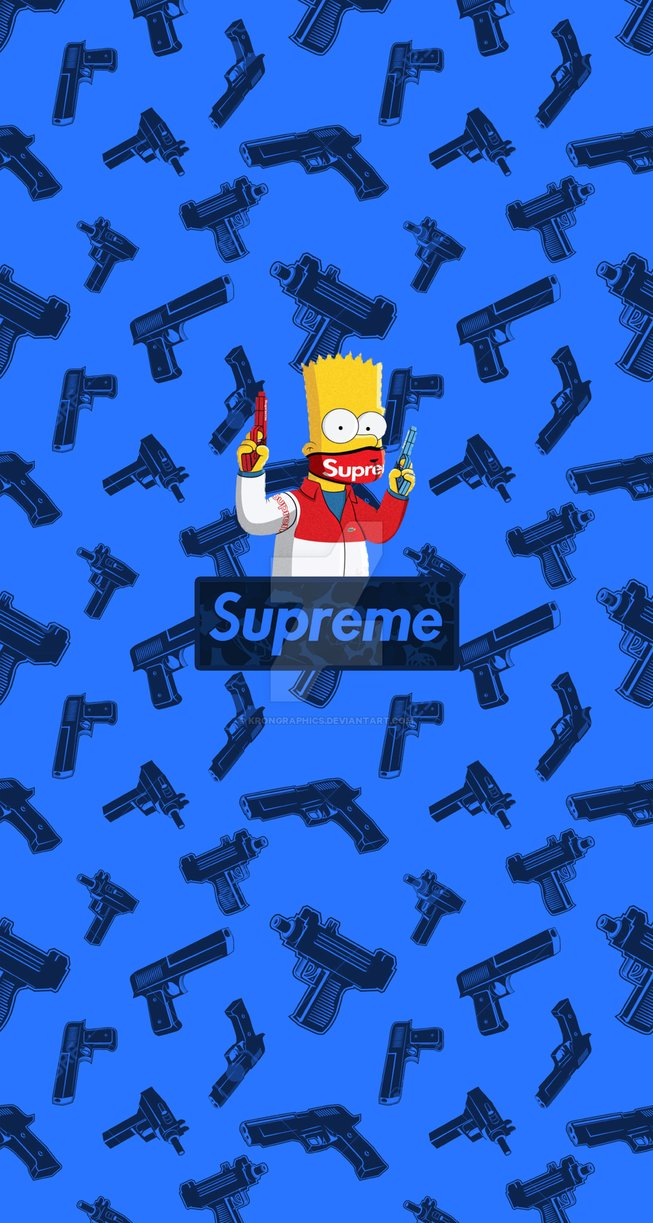 Free Download Supreme X Simpsons Iphone Wallpaper By