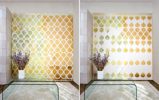 the wallpaper is created with a specially designed perforation tearing 520x330