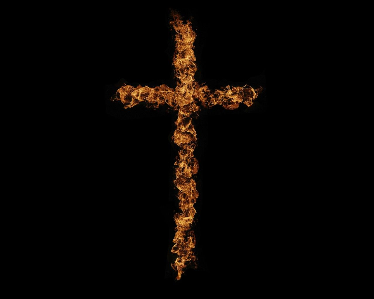 Cross of Fire Wallpaper   Christian Wallpapers and Backgrounds 1280x1024