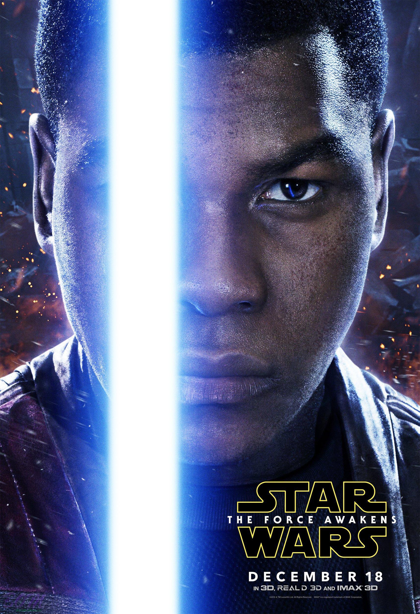 Star Wars The Force Awakens   new FINN Poster   BoxOfficeMoviesin 1714x2500