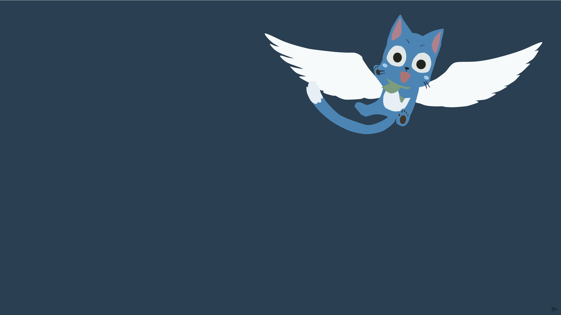 Happy Fairy Tail Minimalistic Wallpaper by greenmapple17 1920x1080