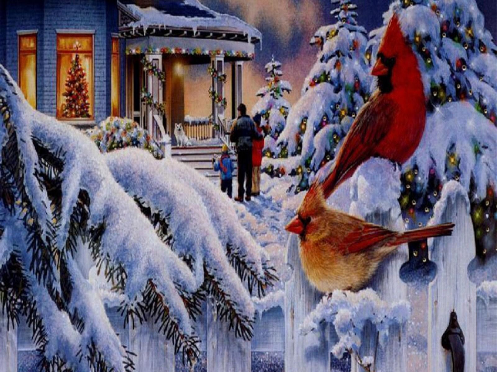Christmas Scene Wallpaper Download Christmas   Good 1600x1200