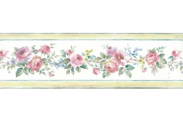 Home Brown Border Pretty Print Beautiful Roses Wallpaper Border 600x400