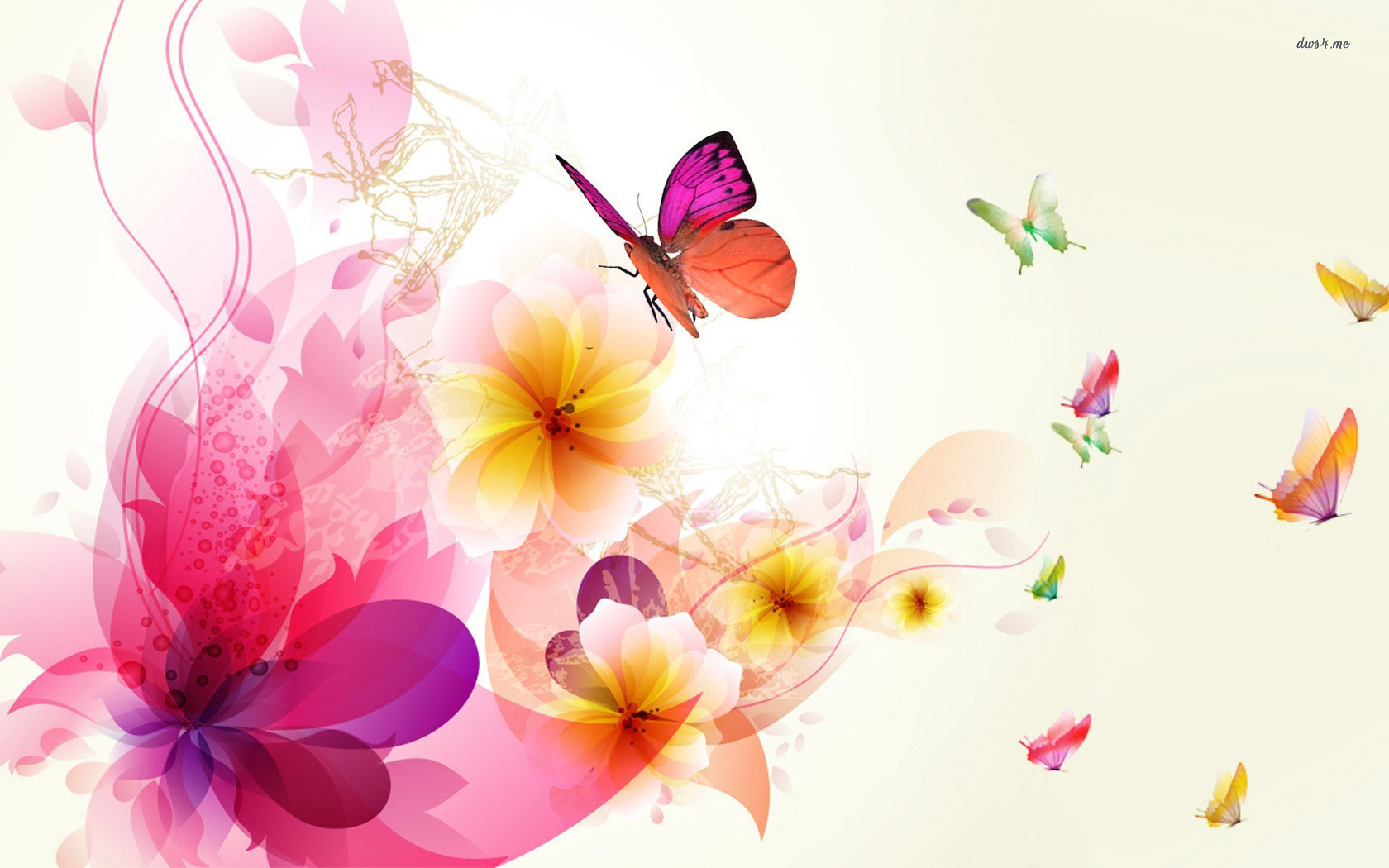 1680x1050   312 78 KB   jpg 89 Colorful Butterfly Wallpapers 1680x1050