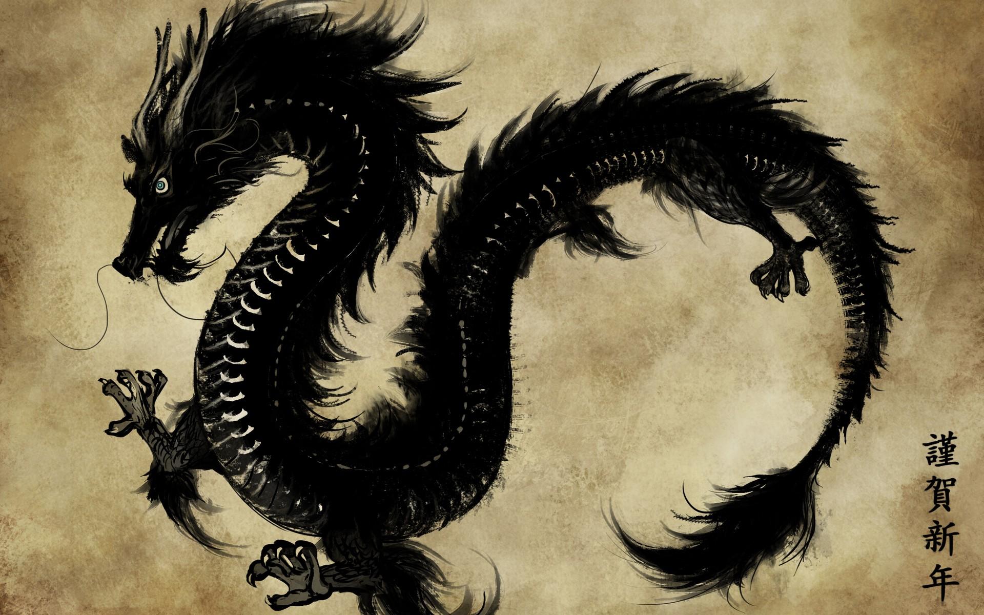 Dragon Ink Drawing Wallpapers Dragon Ink Drawing HD 1920x1200