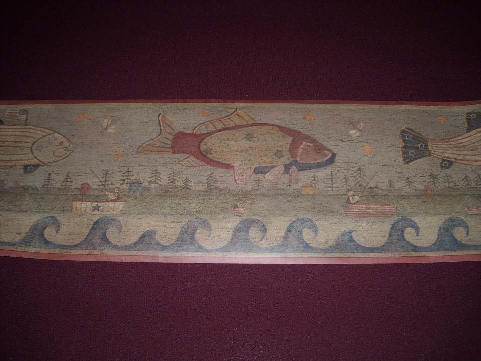 Myrt Primitives Chesapeake Fish Wallpaper Border [gmp 528]   1299 966x725