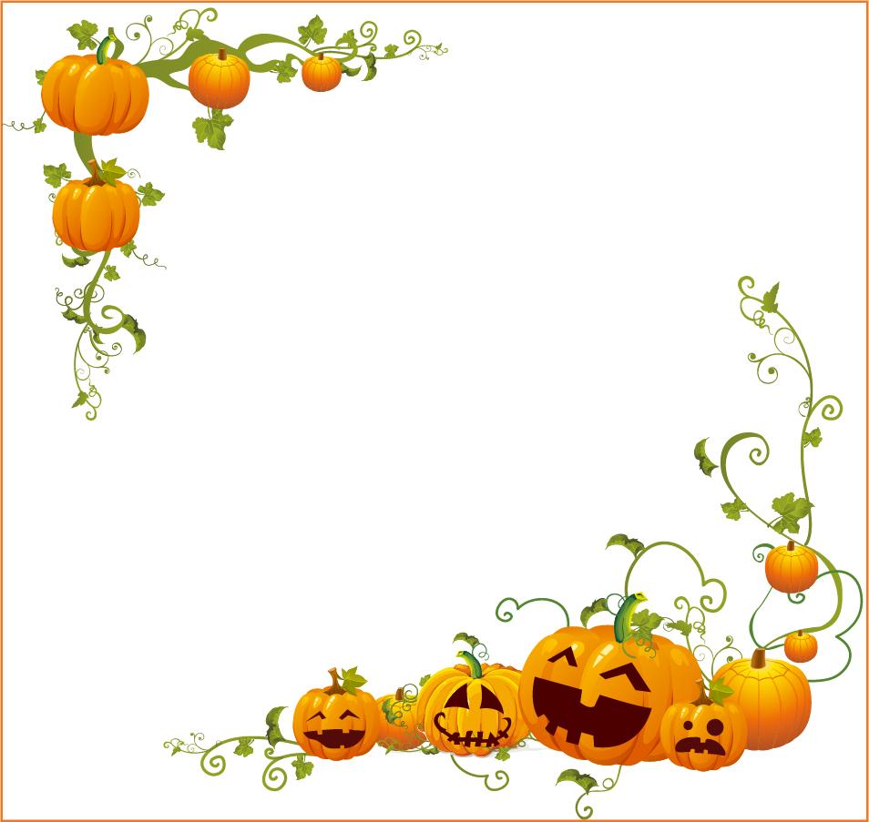 Halloween Pumpkin Corner frame 954x903