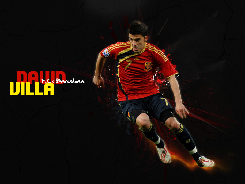 David Villa wallpaper at the Spanish national team in the year 2012 800x600