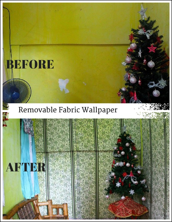 Removable Fabric Wallpaper The Vanilla Housewife 600x776