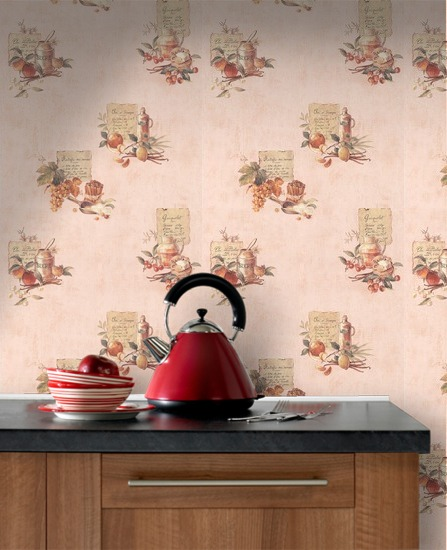 Contour Cuisine Washable Wallpaper Cream by Graham Brown 50105HA 447x550