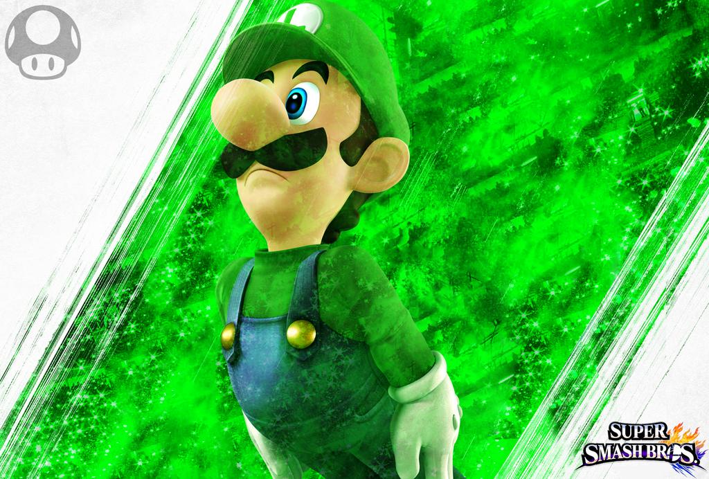 Luigi SSB4 Custom Wallpaper