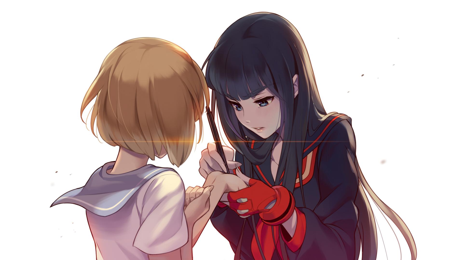 mako mankanshoku and kiryuuin kiryuin satsuki girl kill la kill hd 1920x1080