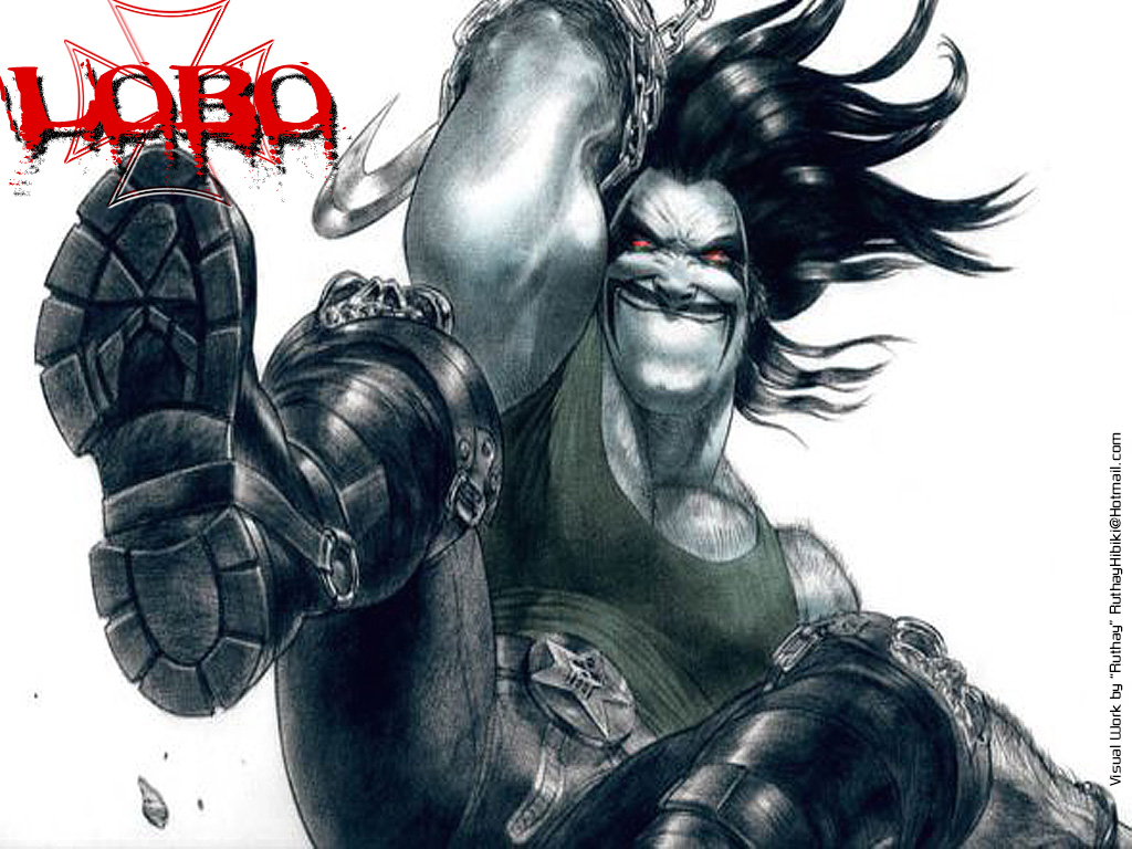 DC Comics Wallpaper 1024x768 DC Comics Lobo 1024x768