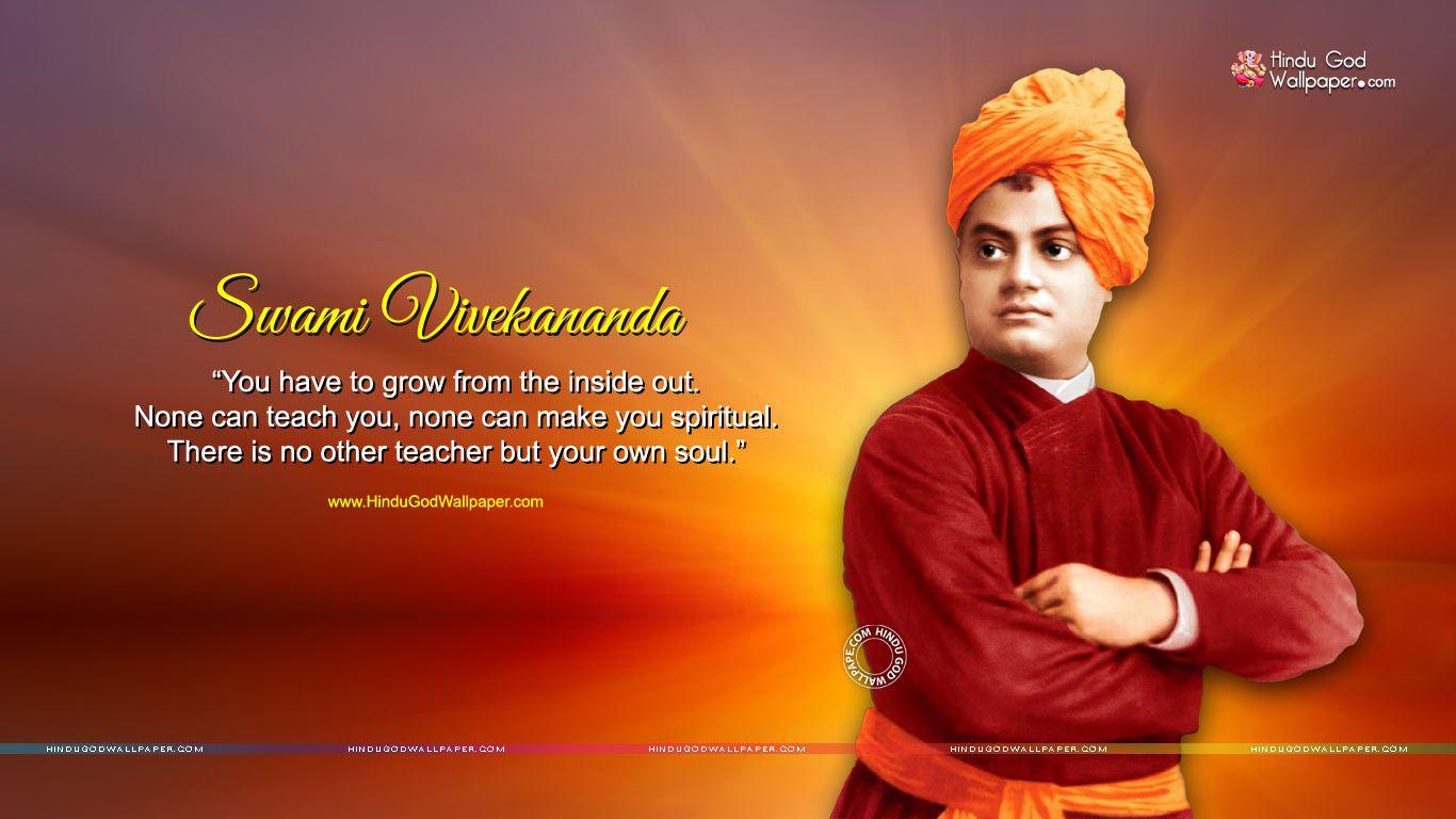 Beautiful Thought of Swami Vivekananda on Workship HD Photos HD 1366x768