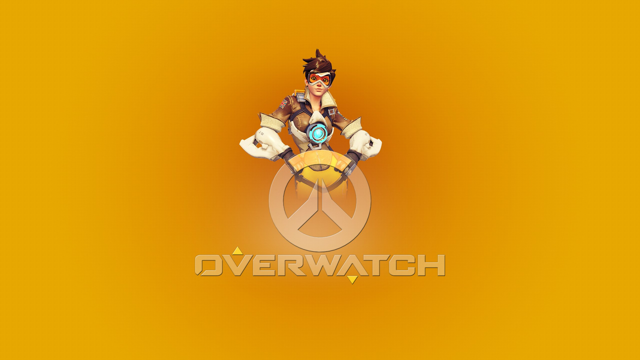 Overwatch Tracer Poster Wallpapers HD Wallpapers 2560x1440