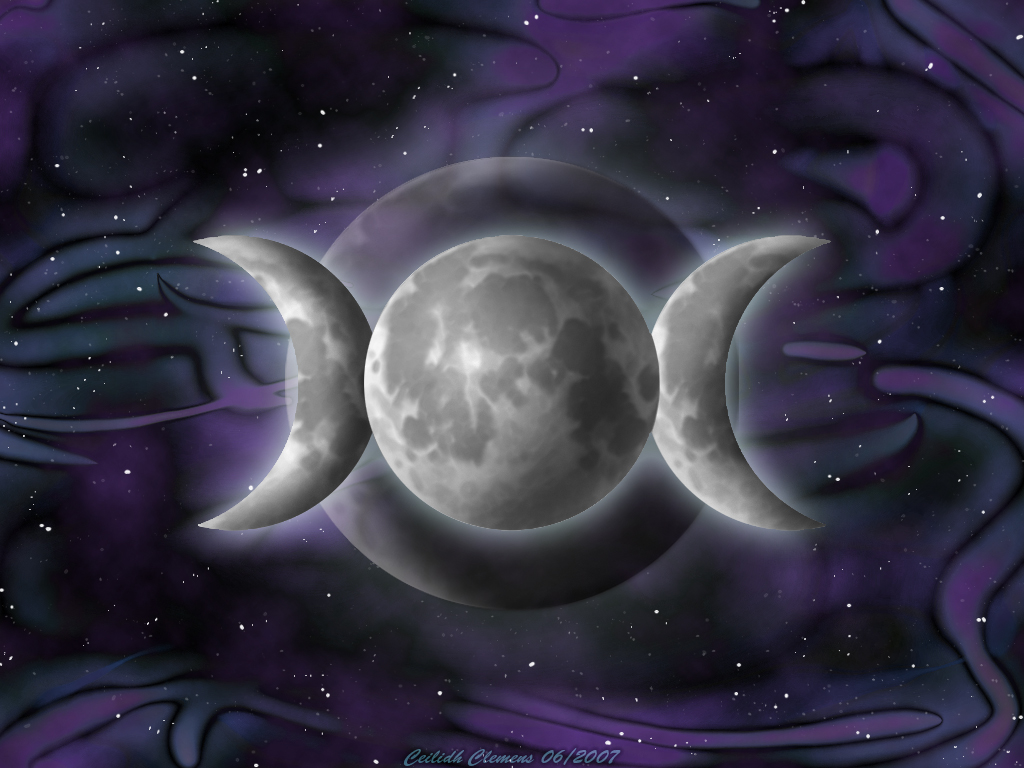 Wiccan Moon Goddess Wallpaper Triple goddess background by 1024x768