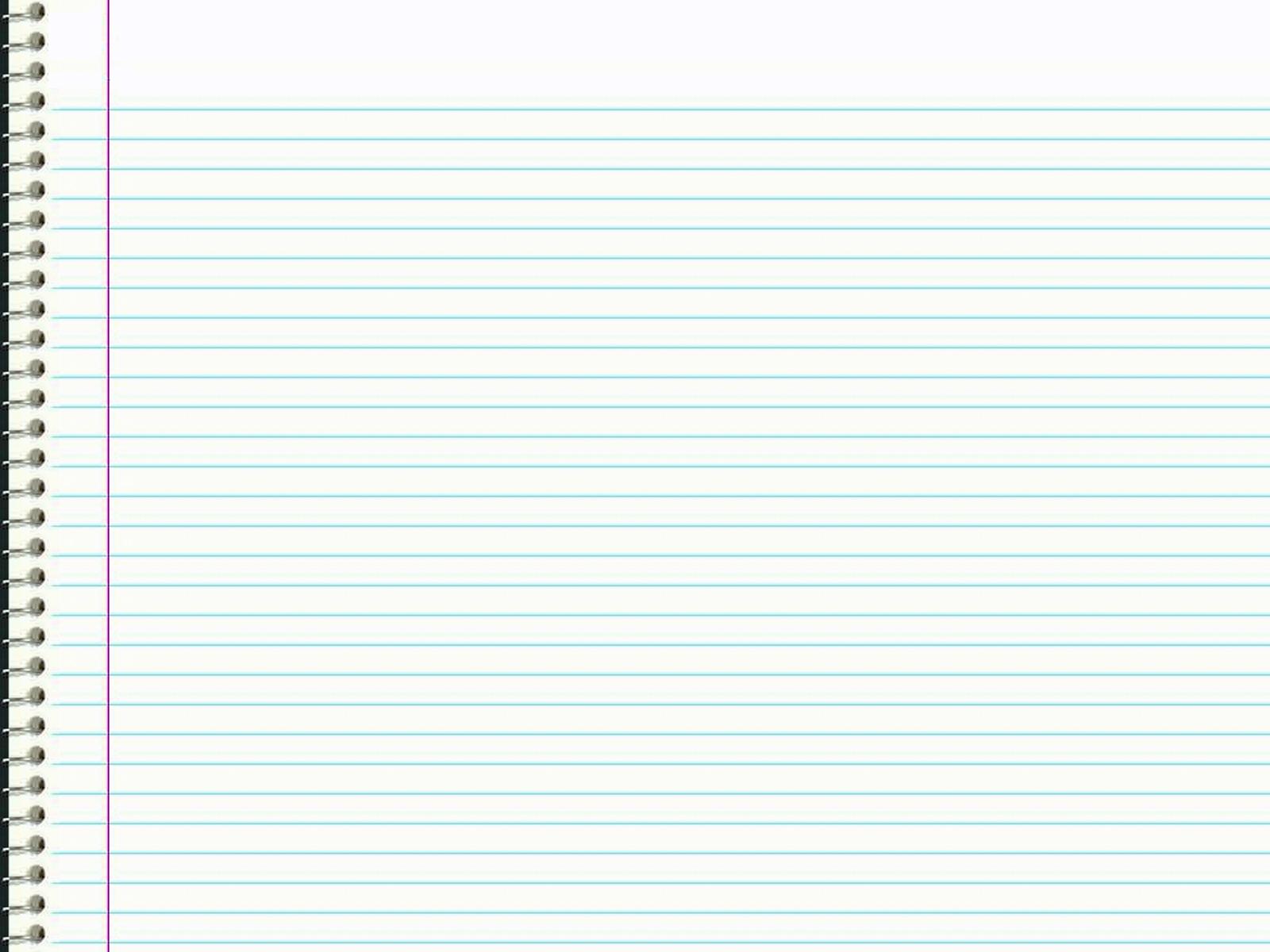 Notebook Paper Wallpaper - WallpaperSafari