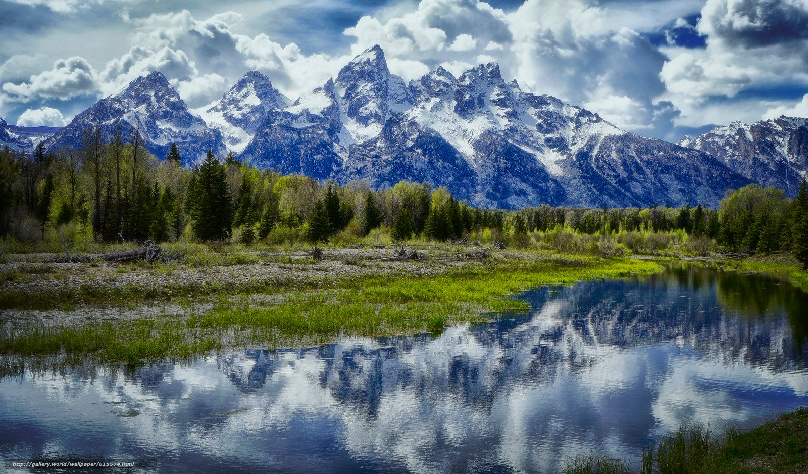 Jackson Hole Wyoming desktop wallpaper in the resolution 1600x938