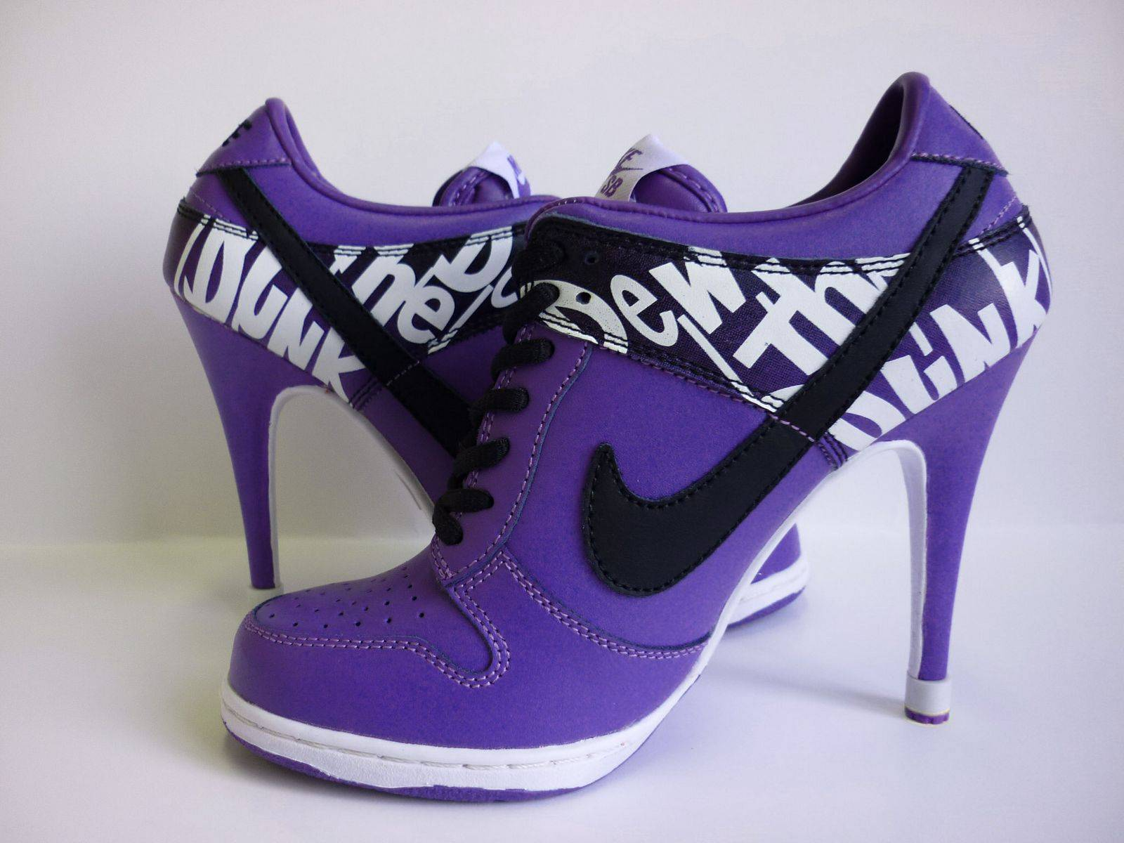 Purple Nike Dunk Heels   Shoes Picture 1600x1200