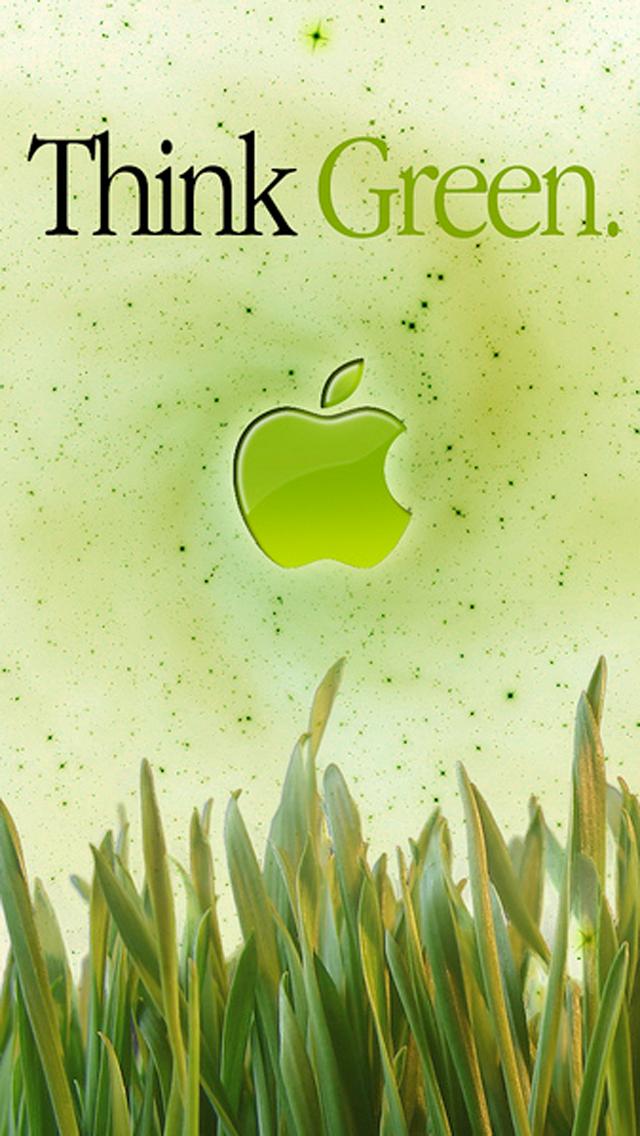 iPhone 5 Wallpaper Apple grass green 640x1136