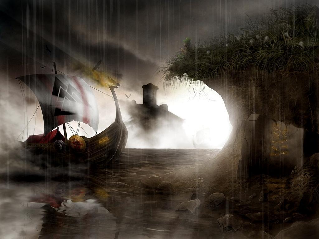 1024x768 Viking ship Wallpaper Download 1024x768