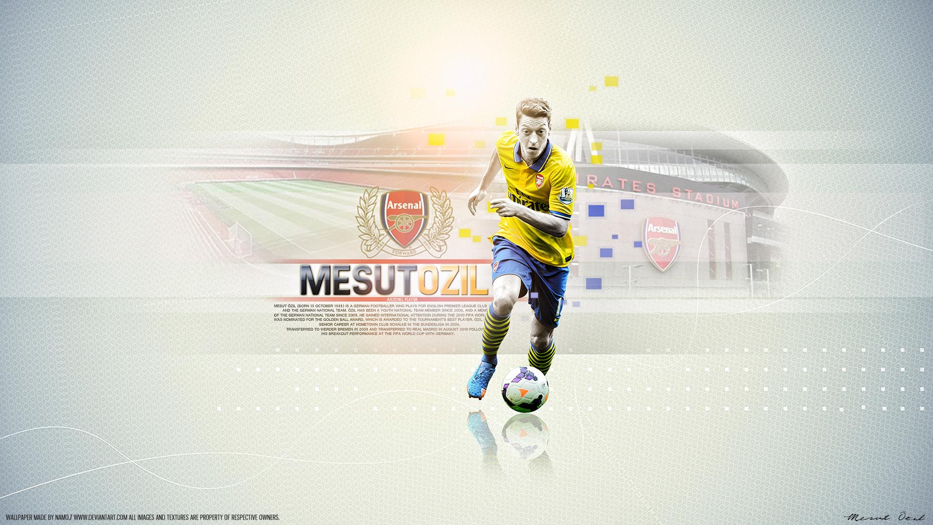 Mesut zil 11 Arsenal by namo7 by 445578gfx 1920x1080