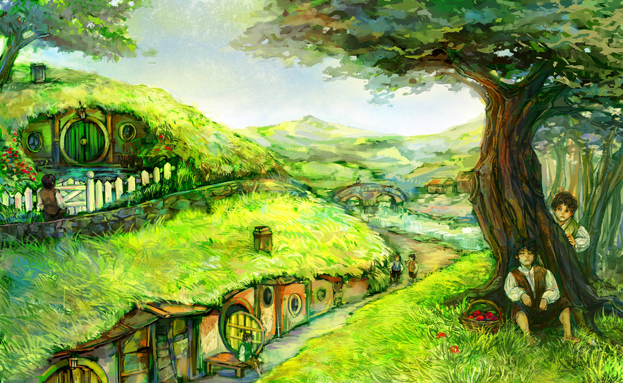 LOTR shire hobbit by aprilis420 900x553