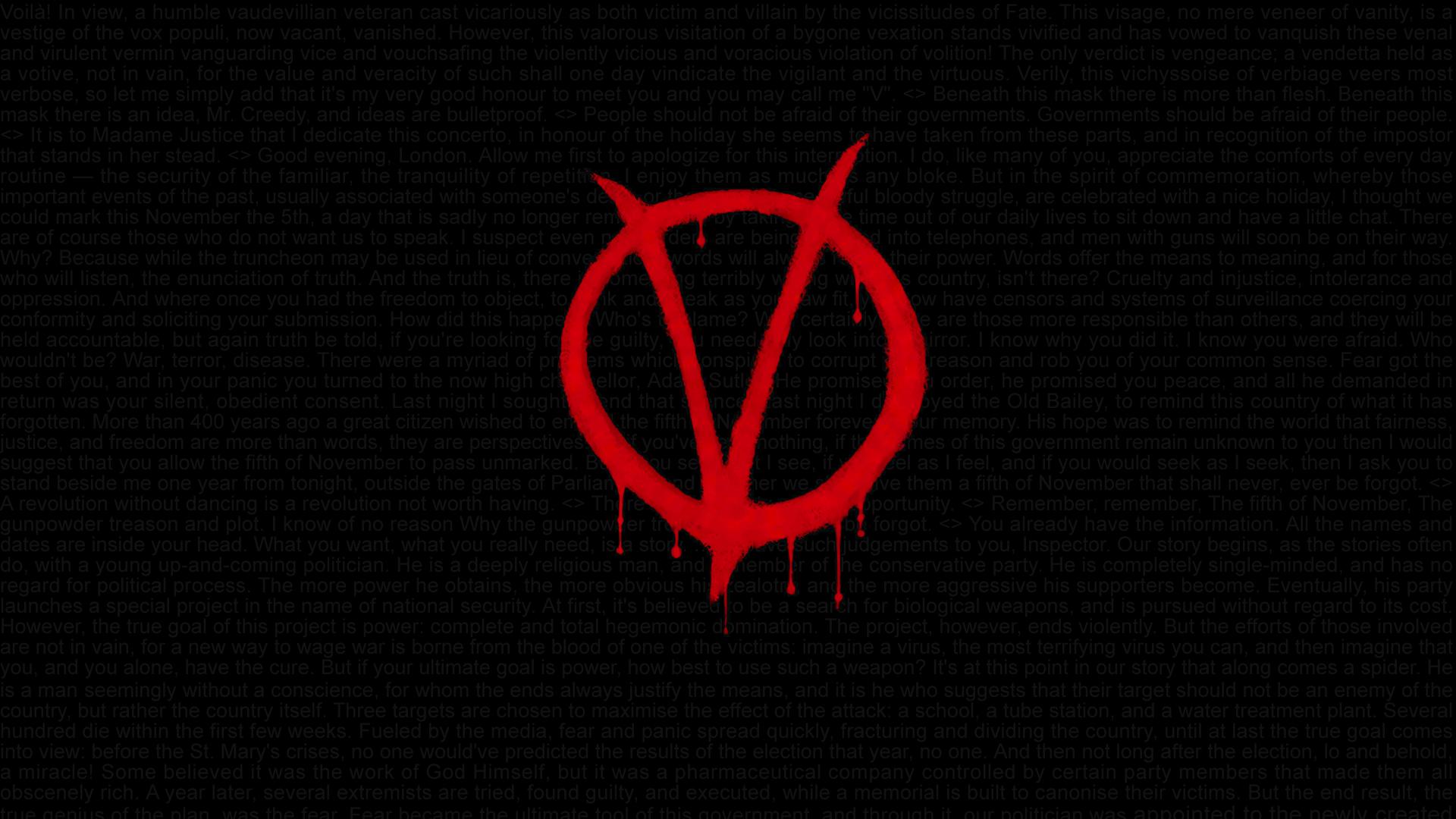 For Vendetta Wallpaper Hd wallpaper 1920x1080