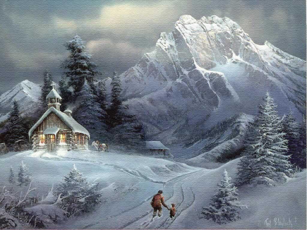 christmas desktop wallpaper Christmas Nature Wallpapers Natural 1024x768