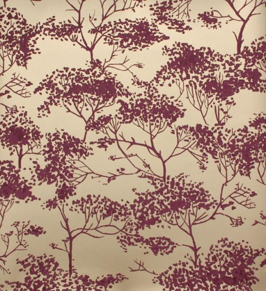 Tivoli woods wallpaper Tree design in shades of light burgundy on a 534x585