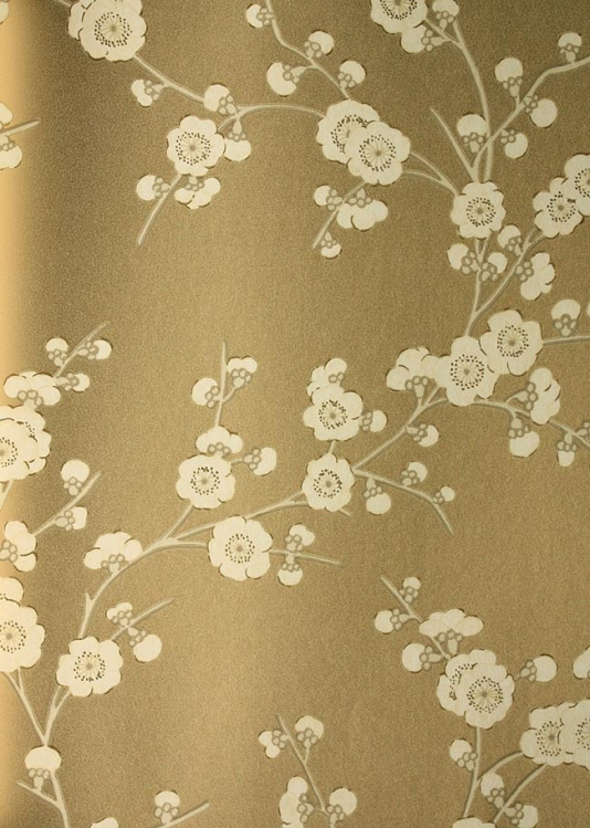 Floral Blossom Wallpaper by GP J Baker Gold Metallic Wallpaper 534x749