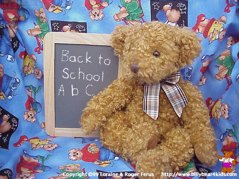 BillyBear4Kidscom Back to School Desktop Wallpaper 800x600