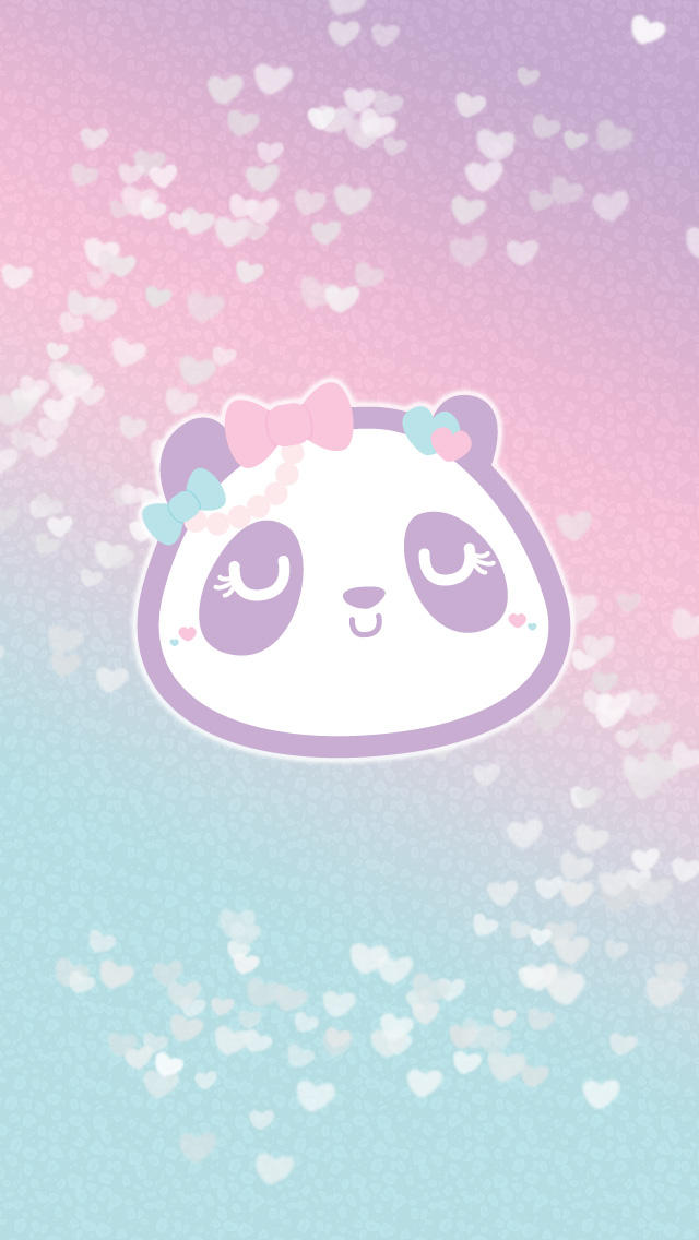 Wallpaperi531 150x150 Cute Pastel Heart Panda Wallpaper Set 640x1136