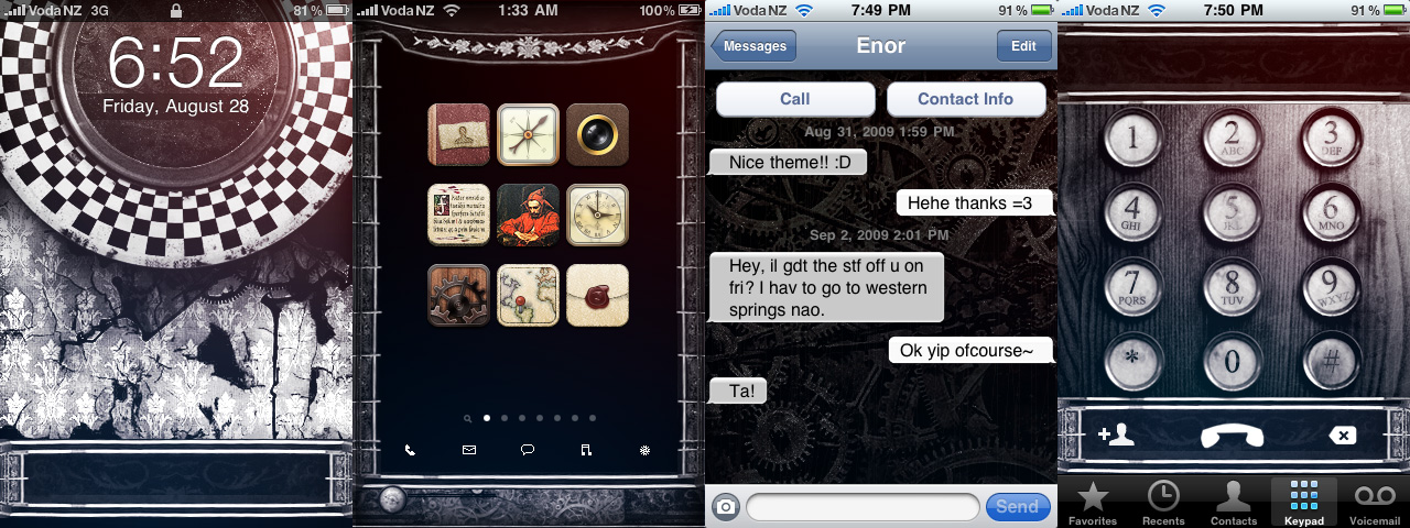 Steampunk Grunge iPhone Theme by kormyen on deviantART 1280x480