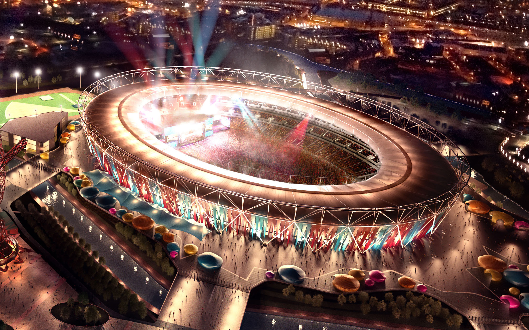 London 2012 Olympic Stadium Wallpapers HD Wallpapers 2200x1375