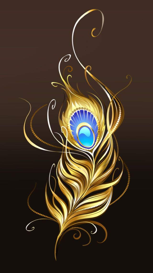 Black and gold peacock feather Backgrounds in 2019 Feather 640x1136
