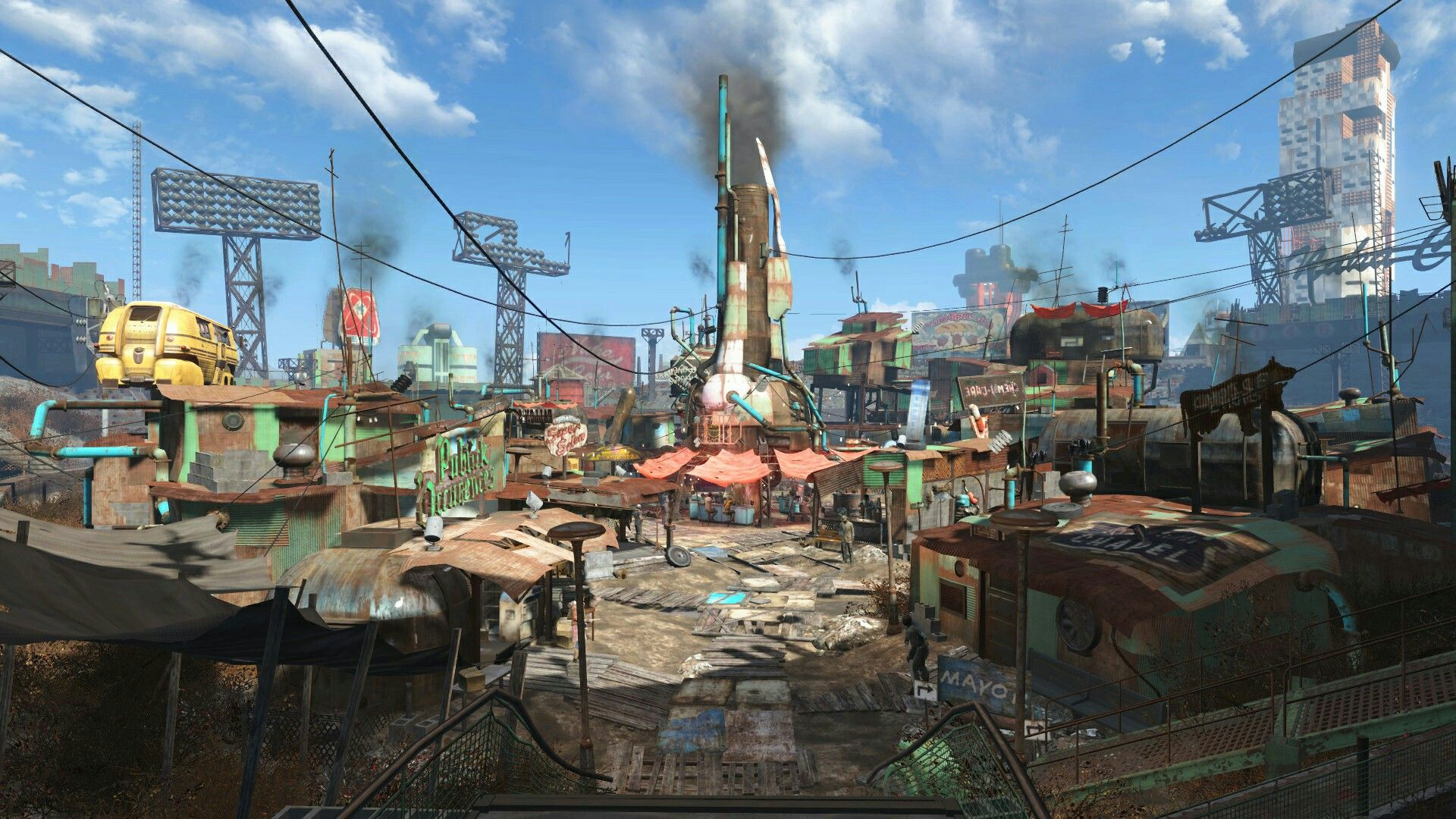 Diamond City Fallout 4 Fallout Fallout 4 concept art Diamond 1920x1080