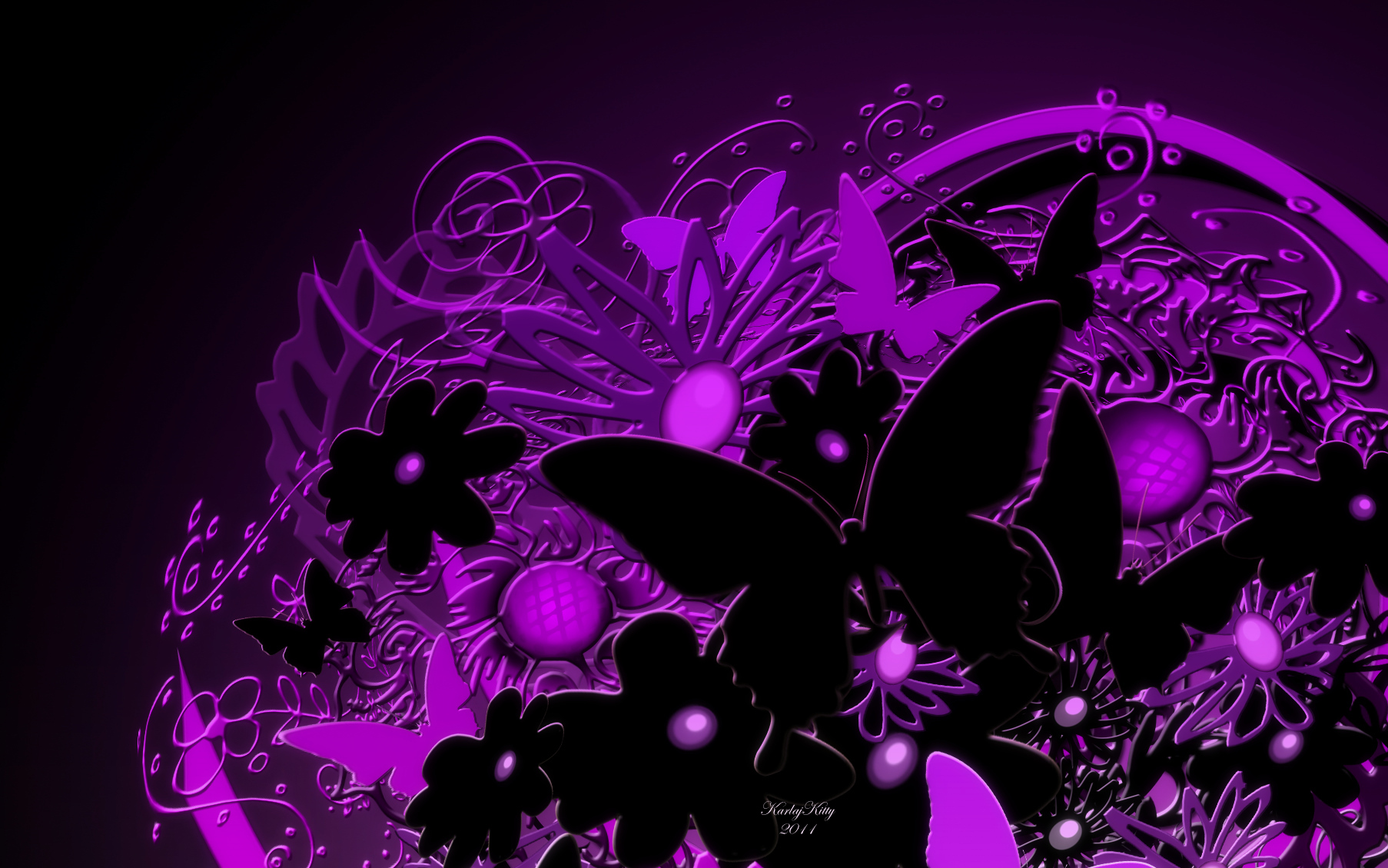 Purple Butterfly Wallpaper High Quality Resolution at 1806x1129