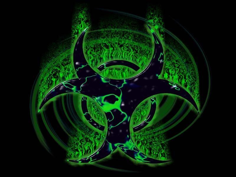 biohazard neon green symboljpg phone wallpaper by rossville777 800x600