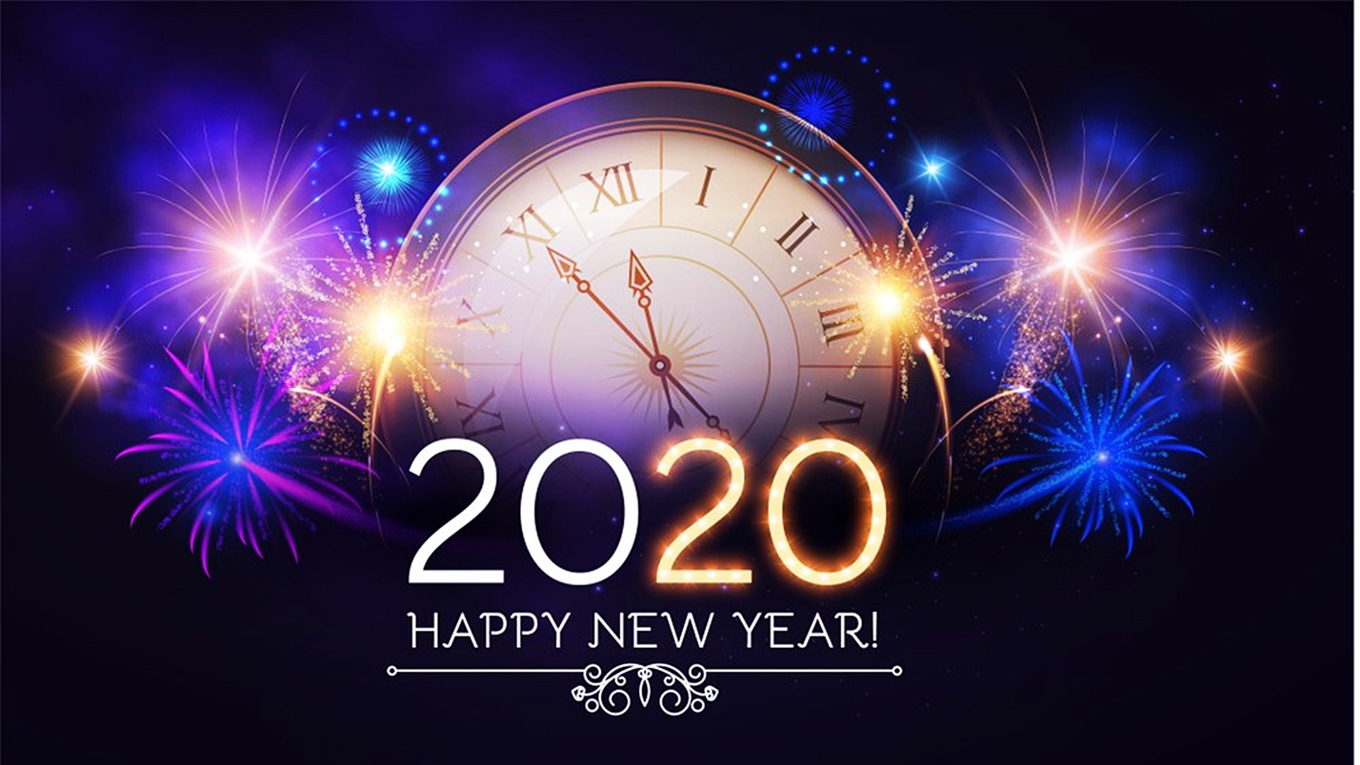 Happy New Year 2020 High Definition Wallpaper 45552   Baltana 1920x1080